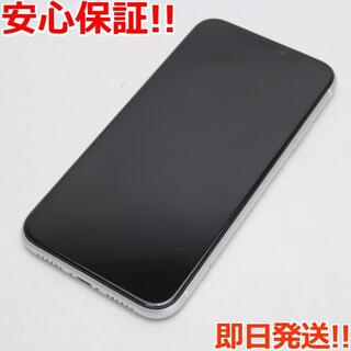 アイフォーン(iPhone)の美品 SIMフリー iPhoneXR 64GB ホワイト 白ロム (スマートフォン本体)