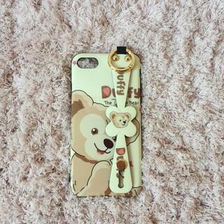 ダッフィー(ダッフィー)のダッフィーのiphoneケース☆ホワイト ストラップ付き 新品 SALE中❣️(iPhoneケース)