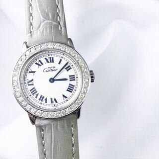 Cartier - 【仕上済/ベルト2本】カルティエ ロンド シルバー ダイヤ レディース 腕時計