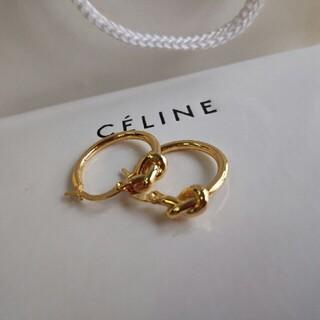 celine - CELIENセリーヌ ピアス 刻印ロゴ 美品