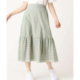 オリーブデオリーブ(OLIVEdesOLIVE)のOLIVE des OLIVE 刺繍 スカート【5/6お値下げしました!】(ひざ丈スカート)
