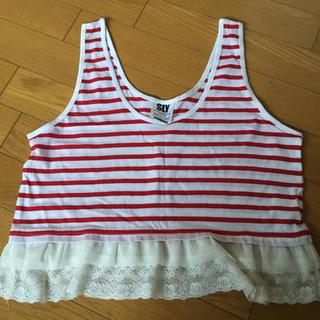 スライ(SLY)の新品未使用!SLY フリルショート丈トップス☆(Tシャツ(半袖/袖なし))