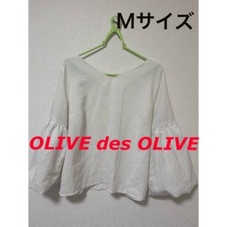 オリーブデオリーブ(OLIVEdesOLIVE)のシャツ ブラウス 白 七分袖 春 夏 秋 オフィスカジュアル(シャツ/ブラウス(長袖/七分))