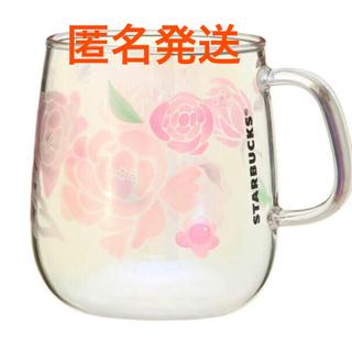 Starbucks Coffee - スターバックス 母の日 耐熱グラスマグカップ ホログラムフラワーズ 355ml