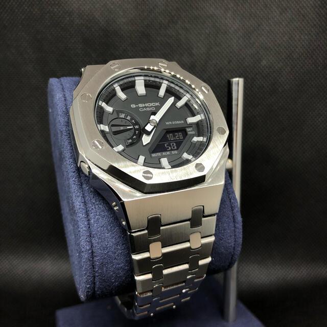 G-SHOCK(ジーショック)のGA-2100本体付き ステンレスベルトセット カシオーク カスタム Gショック メンズの時計(腕時計(アナログ))の商品写真
