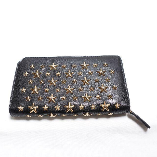 JIMMY CHOO(ジミーチュウ)のJimmy Choo スタースタッズ財布 ブラック レディースのファッション小物(財布)の商品写真