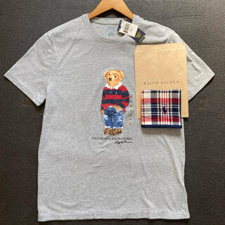 ポロラルフローレンポロベアメンズM(175/96A)Tシャツタオルハンカチ付新品