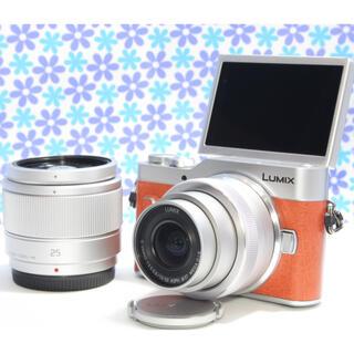 パナソニック(Panasonic)のWi-fi機能搭載★LUMIX DC-GF10 ダブルレンズセット★お散歩カメラ(ミラーレス一眼)