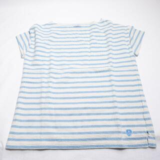 オーシバル(ORCIVAL)のORCIVAL シャツ ライトブルー/ボーダー(Tシャツ(半袖/袖なし))