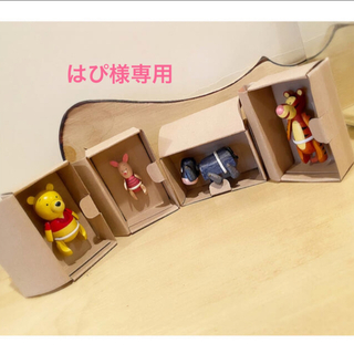 Disney - プーさん ティガー イーヨー ピグレット 木製人形 ディズニー 4点セット