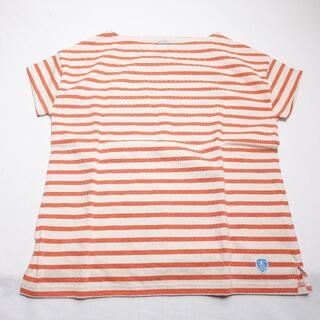 オーシバル(ORCIVAL)のORCIVAL シャツ オレンジ/ボーダー(Tシャツ(半袖/袖なし))