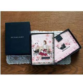 BURBERRY - BURBERRY バーバリー 箱入り 刺繍 ハンカチ セット 新品