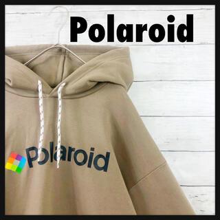 【polaroid】ポラロイド パーカー ブラウン ベージュ 企業 古着 レア(パーカー)