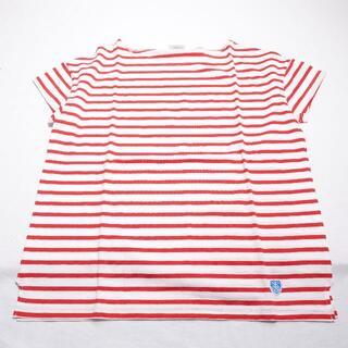 オーシバル(ORCIVAL)のORCIVAL シャツ レッド/ボーダー(Tシャツ(半袖/袖なし))