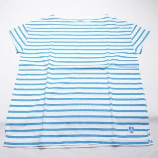 オーシバル(ORCIVAL)のORCIVAL シャツ マリンブルー/ボーダー(Tシャツ(半袖/袖なし))