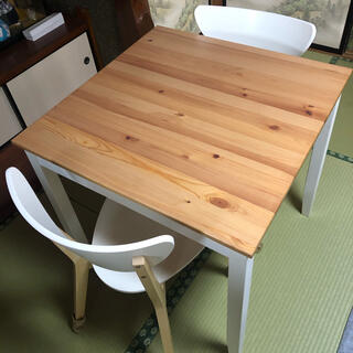 IKEA - IKEA イケア ダイニングテーブル 2人用 LERHAMN NORDMYRA