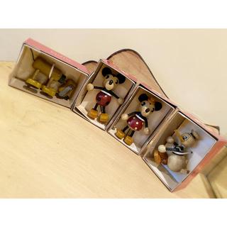 Disney - ミッキー ミニー ドナルド プルート 木製人形 ディズニー 4点セット