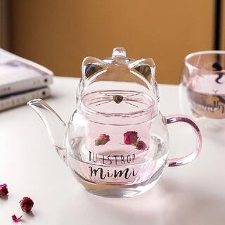 ティーポット 耐熱ガラス600ML  茶こし 急須 ケットル やかん ガラス瓶