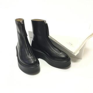 新品 21SS THE ROW Zipped Boot レザー アンクル ブーツ(ブーツ)