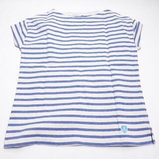 オーシバル(ORCIVAL)のORCIVAL シャツ ブルー/ボーダー(Tシャツ(半袖/袖なし))