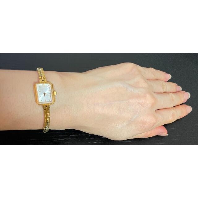 agete(アガット)のアガット イエローゴールド スクエア腕時計(2021年3月 電池交換済) レディースのファッション小物(腕時計)の商品写真