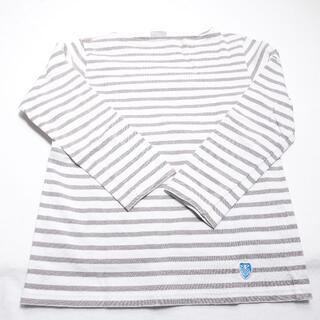オーシバル(ORCIVAL)のORCIVAL シャツ グレージュ/ボーダー(Tシャツ(長袖/七分))