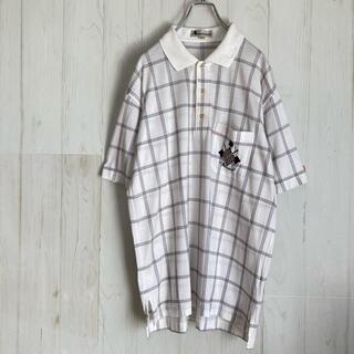 アクアスキュータム(AQUA SCUTUM)のXL アクアスキュータム aquasqutum ポロシャツ 刺繍ワッペン 古着(ポロシャツ)