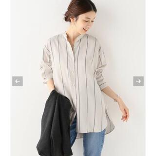 IENA - キュプラレーヨンシルクバンドカラーシャツ