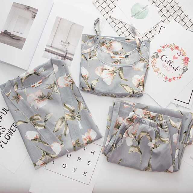 【タイプA】花柄ルームウェア レディースのルームウェア/パジャマ(ルームウェア)の商品写真