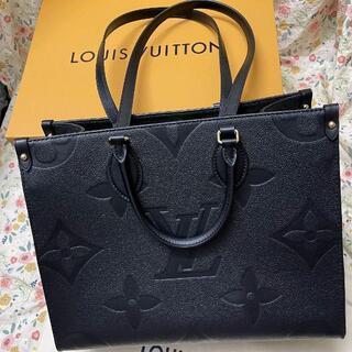 LOUIS VUITTON - Louis Vuitton★ユニセックス【オンザゴー】MM トートバッグ 黒