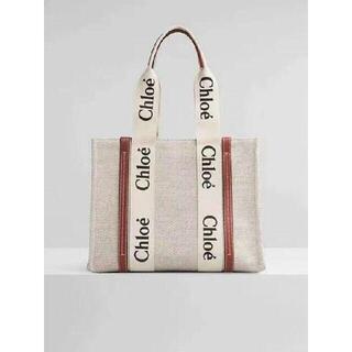 Chloe - Chloe クロエ woody Mサイズ トートバッグ
