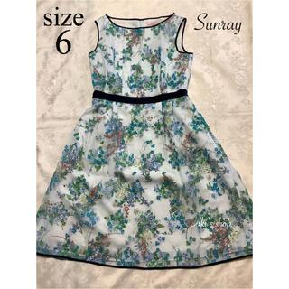 TOCCA - 美品 TOCCA SUNRAY ドレス 6 青 ランドリーライン