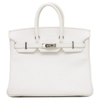 Hermes - エルメス  ハンドバッグ  バーキン25  □M刻印 ホワイト
