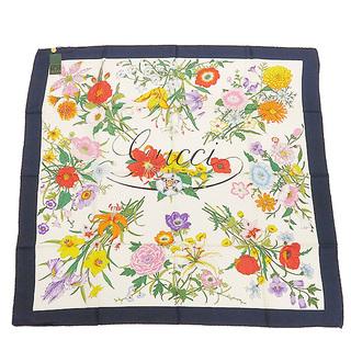 Gucci - グッチ  スカーフ  フローラル 花柄 6260475  マルチカラー