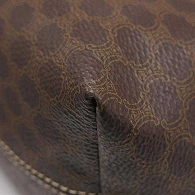 celine(セリーヌ)のセリーヌ  ハンドバッグ  マカダム ポーチバッグ   ブラウン レディースのバッグ(ハンドバッグ)の商品写真