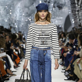 Christian Dior - dior☆ボーダーロングTシャツ