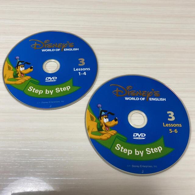 Disney(ディズニー)の美品☆ DWE ディズニー英語システム ステップバイステップ DVD No.3 エンタメ/ホビーのDVD/ブルーレイ(キッズ/ファミリー)の商品写真