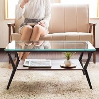 ✨北欧スタイル✨ シンプルおしゃれ ガラステーブル