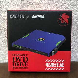 バンダイ(BANDAI)の限定版 エヴァンゲリオン ポータブルDVDドライブ 初号機モデル(PC周辺機器)