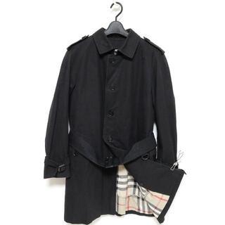 バーバリー(BURBERRY)の国内正規 バーバリー ロンドン トレンチ ステンカラー コート ブラック M 黒(ステンカラーコート)