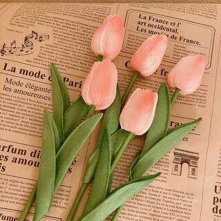 ピンク チューリップ 5本セット 造花 海外インテリア 韓国インテリア