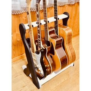 ギブソン(Gibson)のいこちゃん様専用 手作り木工 木製ギタースタンド 4本掛け(アコースティックギター)