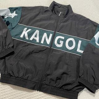 カンゴール(KANGOL)のKANGOL カンゴール ナイロン ジャンパー ブルゾン ブラック L(ナイロンジャケット)