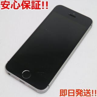 アイフォーン(iPhone)の美品 SIMフリー iPhoneSE 64GB スペースグレイ (スマートフォン本体)