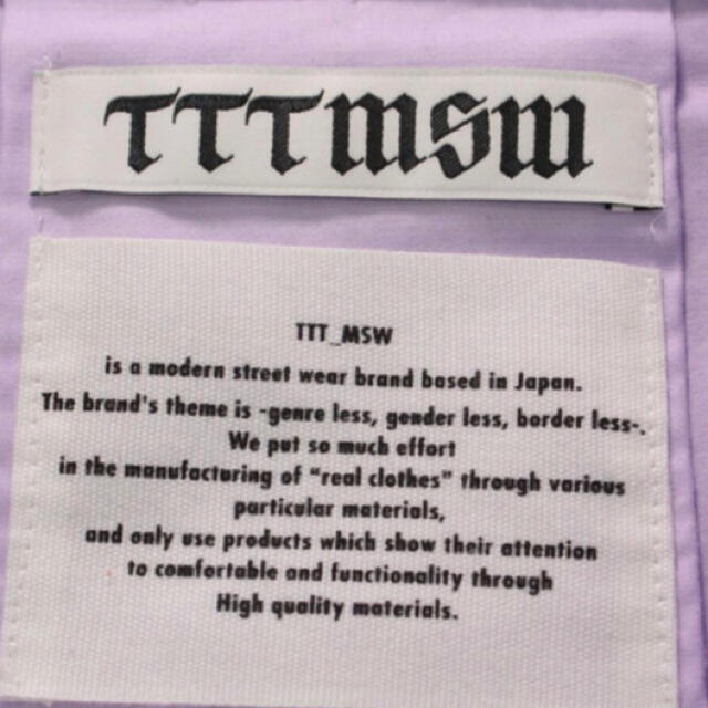 ttt_msw  シャツブルゾン ss メンズのジャケット/アウター(ブルゾン)の商品写真