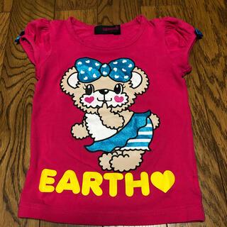 アースマジック(EARTHMAGIC)の美品 アースマジック  130cm ピンク リボンTシャツ ヒスミニ RONI (Tシャツ/カットソー)