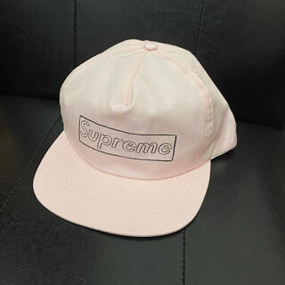 シュプリーム(Supreme)のsupreme KAWS Chalk Logo 5-Panel/pink (キャップ)