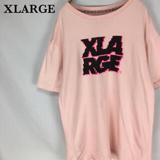 XLARGE - Tシャツ XLARGE エクストララージ ゲームロゴ メンズ ピンク 半袖 L