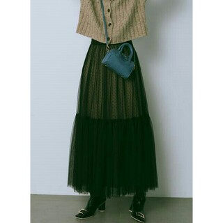 Lily Brown - チュールロングスカート