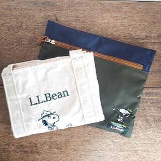 エルエルビーン(L.L.Bean)のプラザ限定 スヌーピー  L.L.Bean グローサリー・トート(ポーチ付)(トートバッグ)